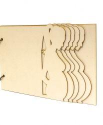 Елементи от бирен картон - Пеперуди IDEA0988