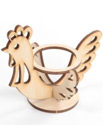 Дървена поставка за яйце - петел IDEA1272