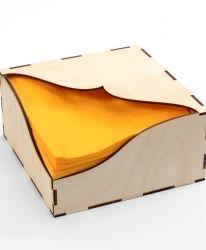 Дървена кутия за салфетки 14х14см - IDEA1302