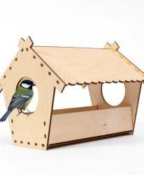 Хранилка за птици от дърво - IDEA1311