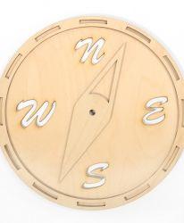 Дървена основа за часовник - Кръг с гълъби IDEA1299