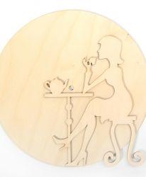 Дървена основа за часовник - Компас IDEA1314