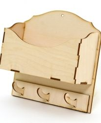 Дървена кутия с чекмедже 15х15х20см - IDEA1405