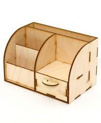 Дървена поставка със закачалка 18х17х5,5см - IDEA1407