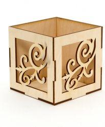 Дървен органайзер 10х10х16см - IDEA1408
