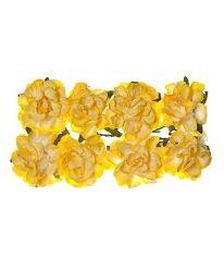 Хартиени цветя 8бр - бордо SCB280409