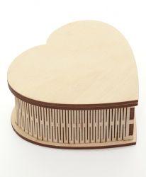 Дървена кутия с 4 отделения 16х13х5см - IDEA1274