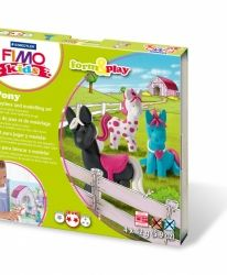 Fimo комплект полимерна глина Kids, 4x42гр. Dino - G803407LZ