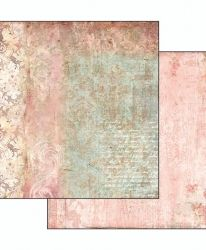 Двулицев картон 30.5 x 30.5см - Dream texture with rose SBB497