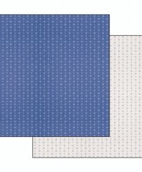 Двулицев картон 30.5 x 30.5см - Cloth little hearts blue background SBB495