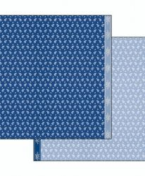 Двулицев картон 30.5 x 30.5см - Cloth texture blue background SBB494