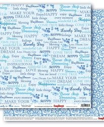 "Double-sided paper 12""x12"" - Rhapsody in Blue, Dutch Mosaic SCB220610402"