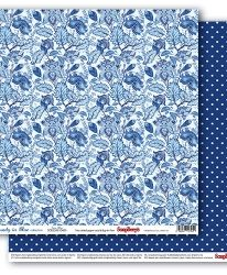 "Double-sided paper 12""x12"" - Rhapsody in Blue, Baroque Blue SCB220610403"