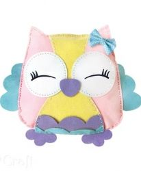 Felt Pillow Craft Kit - Owl Sweetie KSFI-097