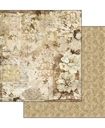 "Double face scrap paper 12""x12"" - Old lace - Texture leaves SBB522"