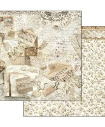 "Double face scrap paper 12""x12"" - Old lace - Gate SBB523"
