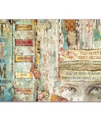 Decoupage rice paper 33x48cm - Time is an illusion Face DFS387