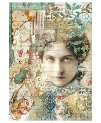 Decoupage Rice Paper A4 - Old lace Face DFSA4266