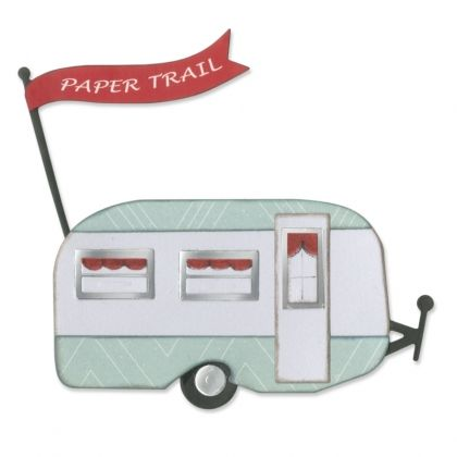 Шаблон за рязане и релеф Sizzix - Travel Trailer 660327