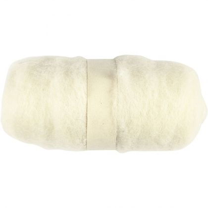 Carded Wool 25g - white C45101