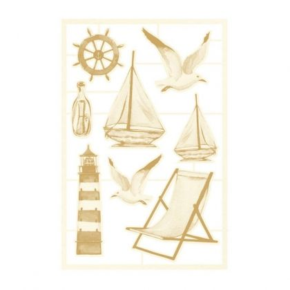 Елементи за декорация Chipboard 8 бр. Beyond the sea 03, 8pcs P13-SEA-45