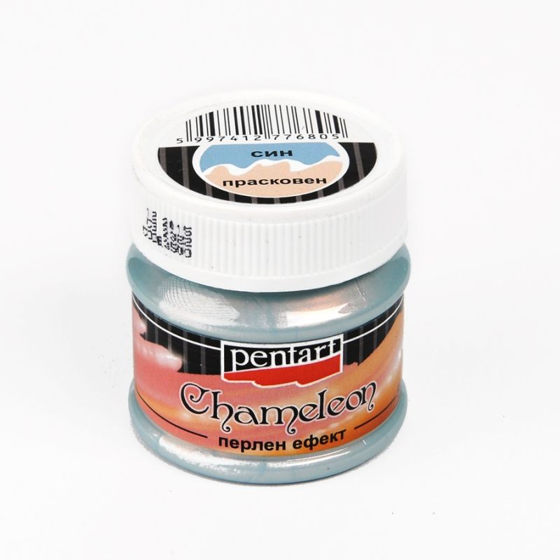 Chameleon pearl effect acrylic paint 50ml blue peach p3500 for Acrylic paint effects