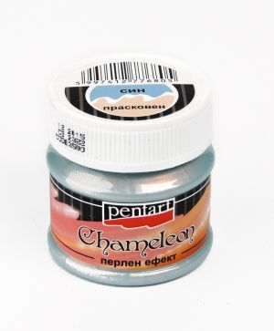 Chameleon pearl effect acrylic paint 50ml - blue - peach P3500