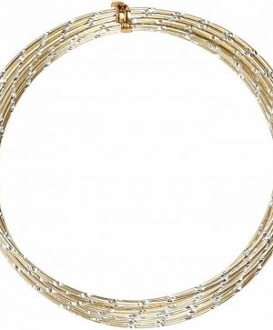 Aluminium wire diamond-cut 7m - gold C518304