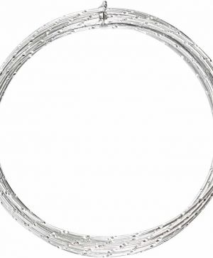 Aluminium wire diamond-cut 7m - silver C518305