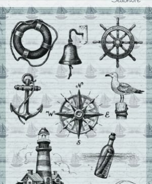 Clear stamps 15x21cm - At the sea 6410-0345