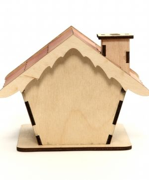Wooden Christmas house, disassembled - IDEA1162