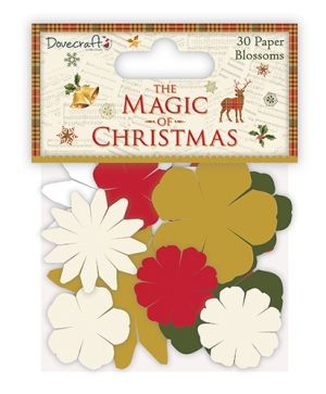 Dovecraft The Magic of Christmas Paper Blossoms - DCFLW016X17