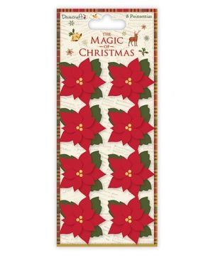 Dovecraft The Magic of Christmas Poinsettia Flowers - DCFLW017X17