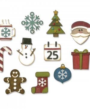 Шаблон за рязане и релеф Sizzix -  Mini Christmas Things 662418