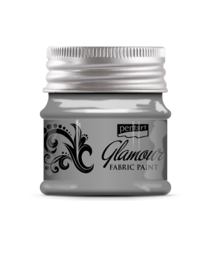 Glamour metallic fabric paint 50ml - silver P33858