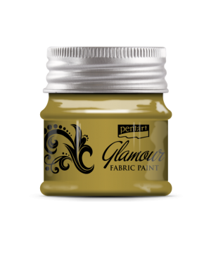 Glamour metallic fabric paint 50ml - gold P33864