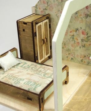 3D wooden puzzle - dollhouse with furniture - IDEA1664