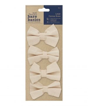 Large Canvas Bows (4pcs) PMA-174503