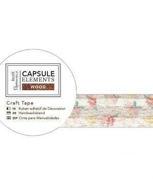 3m Craft Tape - Elements Wood - Flowers PMA-462115