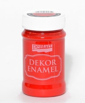 Dekor Enamel 100 ml red - P34125