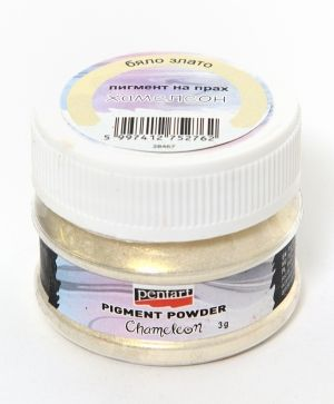 Effect pigment powder 5g - chameleon white-gold P33648