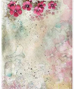 Hartie de orez pentru decoupage A4 - flowers, colorful watercolors - ITD-R1395