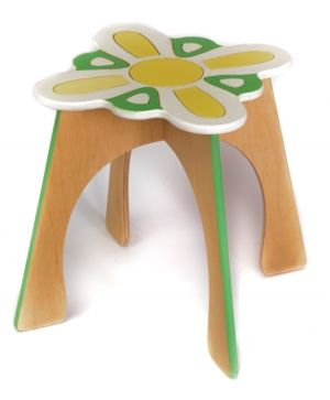 Wooden decorated chair - Flower IDEA1746-1