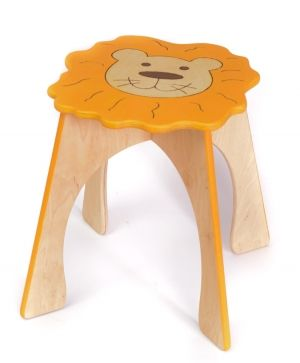 Wooden decorated chair - Lion IDEA1749-1