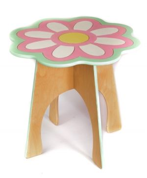 Wooden decorated table - Flower IDEA1751-1