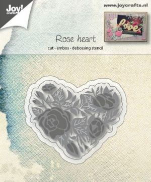 Шаблон за изрязване и релеф - Rose and heart 6002-1125