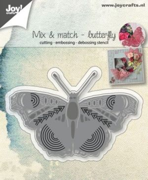 Шаблон за изрязване и релеф - Mix and Match Butterfly 6002-1068