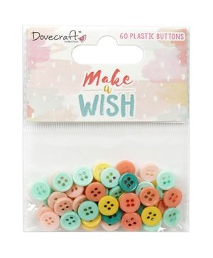 Копчета за декорация 60бр - Make A Wish - DCBTN028