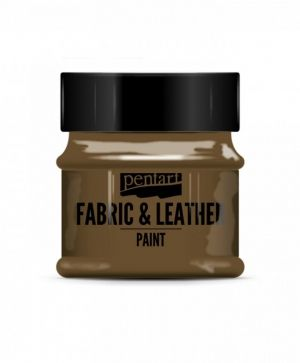 Fabric and leather paint 50ml - brown P34809