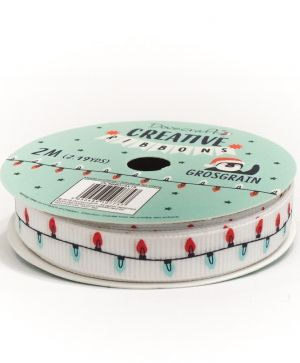Dovecraft Christmas Ribbon - Modern DCRBB024X18-3